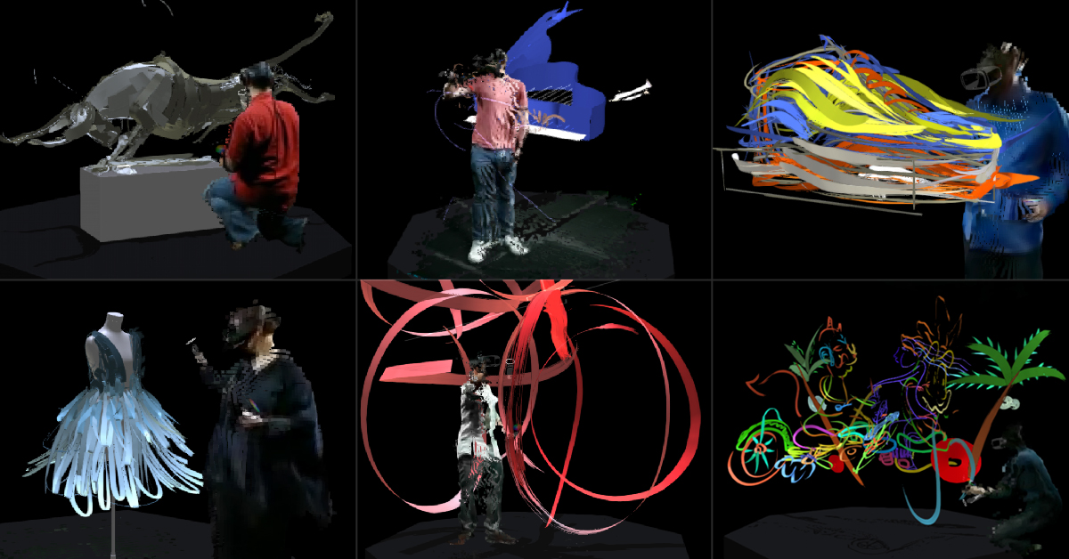 Virtual Art Sessions - 3d rendered experimental artworks